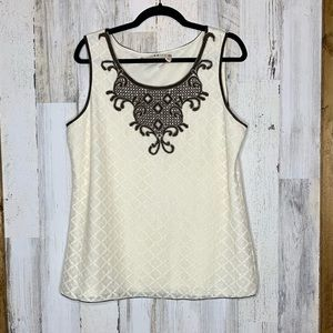 Chelsea & Violet lace blouse sleeveless NWOT